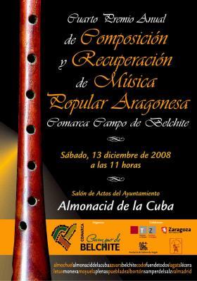 IV Premio Anual de Composición y Recuperación de Música Popular Aragonesa Comarca Campo de Belchite