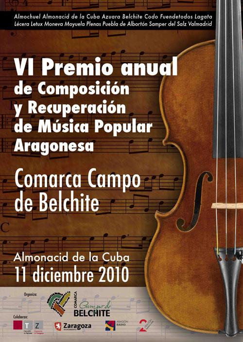 VI Premio Anual de Composición y Recuperación de Música Popular Aragonesa