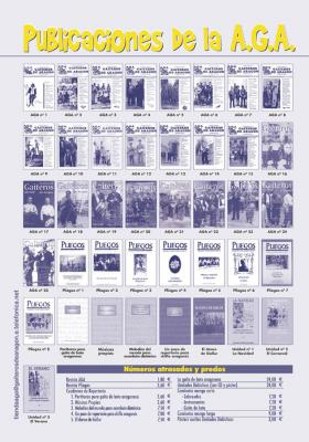 Portadas de las publicaciones de la Asociación de Gaiteros de Aragón