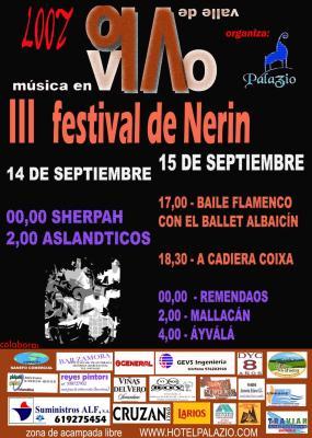 lll FESTIVAL DE NERIN  - Música en vivo - Valle de Vió