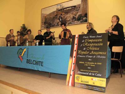 Entrega de premios IV Premio Anual de Composición y Recuperación de Música Popular Aragonesa Comarca Campo de Belchite