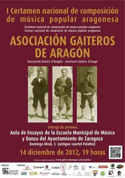 Concurso de composición de música popular aragonesa Asociación Gaiteros de Aragón